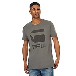 G-Star - Grey graphic print t-shirt