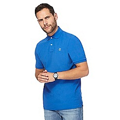G-Star - Blue logo embroidered slim fit polo shirt