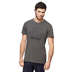 G-Star - Grey logo t-shirt