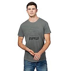 G-Star - Khaki distressed logo t-shirt