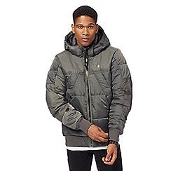 G-Star - Khaki padded hooded bomber jacket