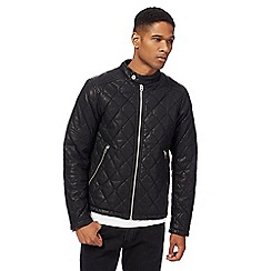 G-Star - Black quilted biker jacket