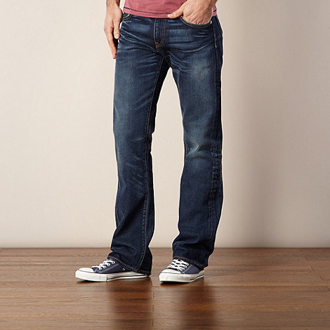 Levi+s - 527&#8482 dark blue wash slim bootcut jeans