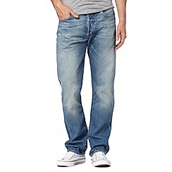 Levi's - 501® homestead blue mid wash straight fit jeans