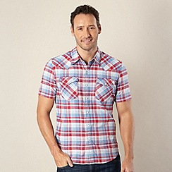 Levi's - Barstow blue checked chambray shirt
