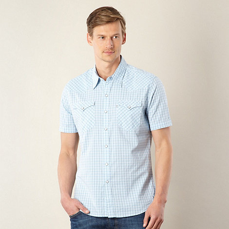 Levi+s - Light blue short sleeved checked shirt