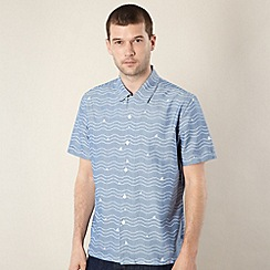 Levi's - Blue wave printed chambray shirt