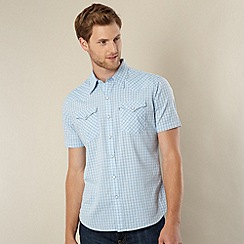 Levi's - Light blue western checked shirt