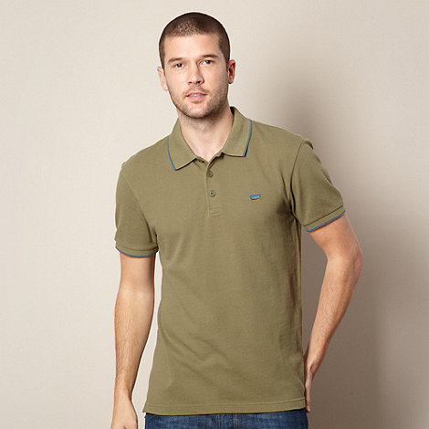 Levi+s - Olive tipped pique polo shirt