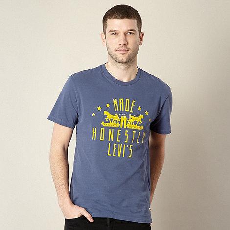 Levi+s - Navy 2 horse logo t-shirt
