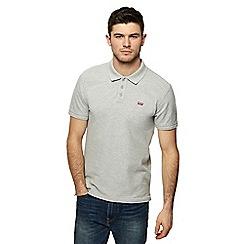 Levi's - Grey logo applique polo shirt