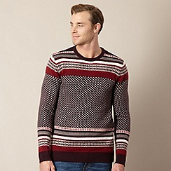 Levi's - Wine fairisle knit jumper