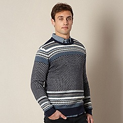 Levi's - Blue fairisle knitted jumper