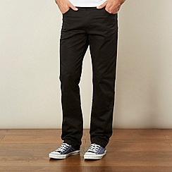 Wrangler - Texas stretch gabardine black straight leg jeans
