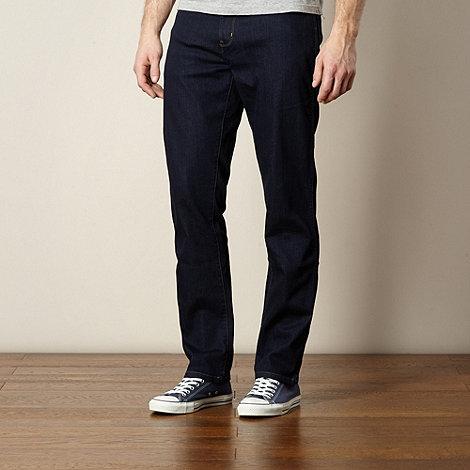 Wrangler - Texas brushedback navy straight leg jeans