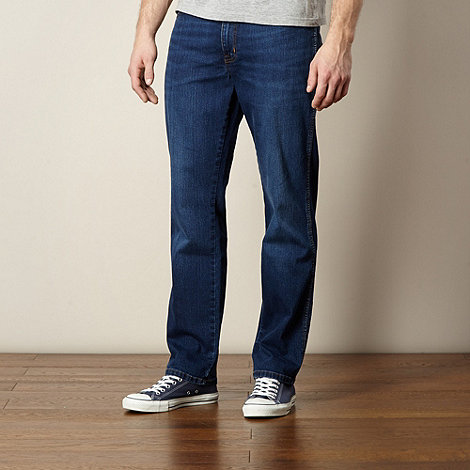Wrangler - Texas brotherly dark blue straight fit jeans