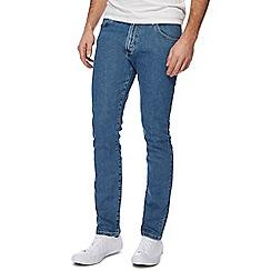 Wrangler - Blue 'Larston' light wash slim tapered jeans