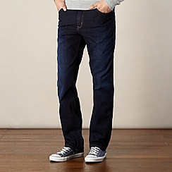 Wrangler - Texas tough dark blue straight leg jeans