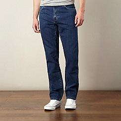 Wrangler - Texas darkstone dark blue straight leg jeans