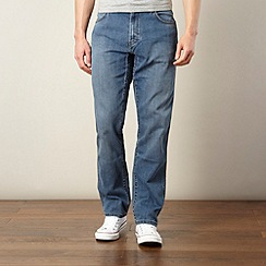 Wrangler - Texas tough mid blue straight leg jeans