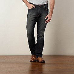 Wrangler - Arizona grey stone vintage wash straight leg jeans