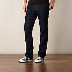 Wrangler - Arizona rinse wash dark blue straight fit jeans