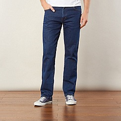 Wrangler - Texas stretch mid stone dark blue regular fit jeans
