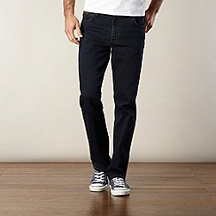 Wrangler - Texas stretch blue black regular fit jeans