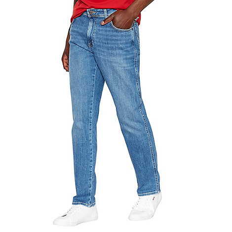 Wrangler - Texas stretch broke blue straight leg jeans