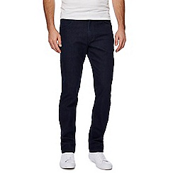 Wrangler - Big and tall dark blue 'Greensboro' straight leg jeans