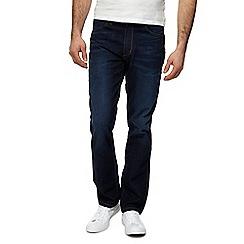 Wrangler - Dark blue 'Greensboro' straight leg jeans
