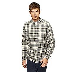 Wrangler - Grey tartan checked shirt