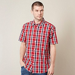 Wrangler - Red woven checked shirt