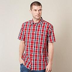 Wrangler - Red woven checked shirt