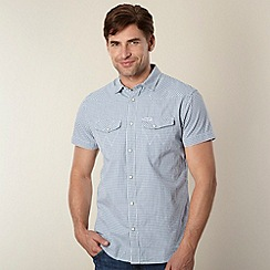 Wrangler - Big and tall light blue mini checked shirt
