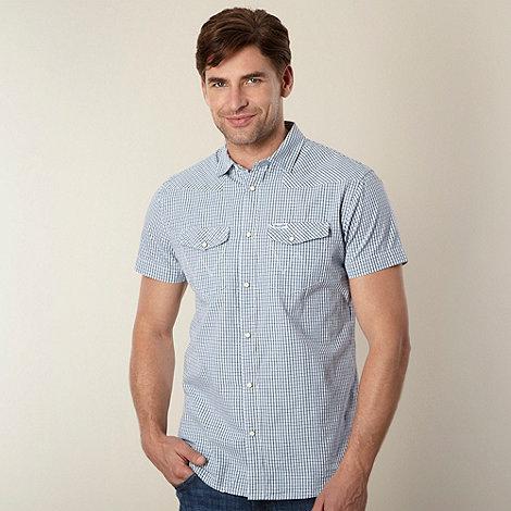 Wrangler - Light blue mini checked shirt
