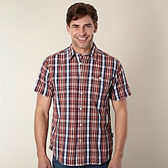 Wrangler - Red textured checked shirt