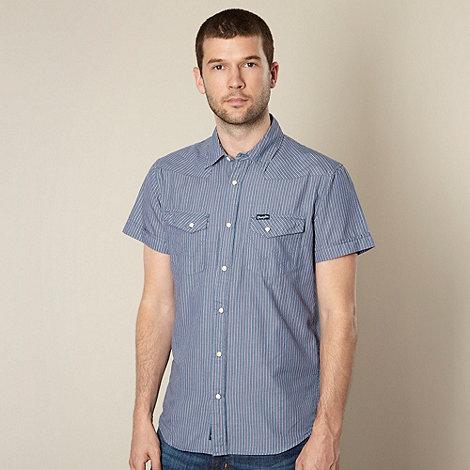 Wrangler - Blue western striped shirt