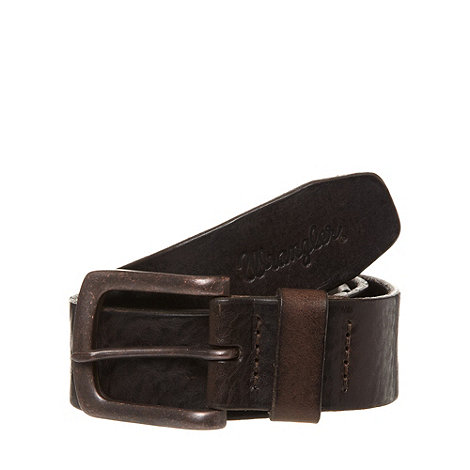 Wrangler - Brown leather antique buckle belt