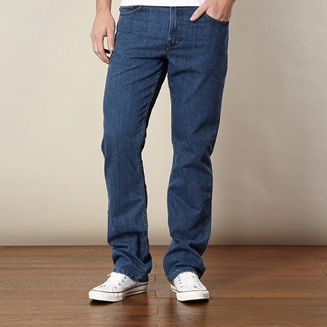 Lee - Brooklyn blue dark rinse straight leg jeans
