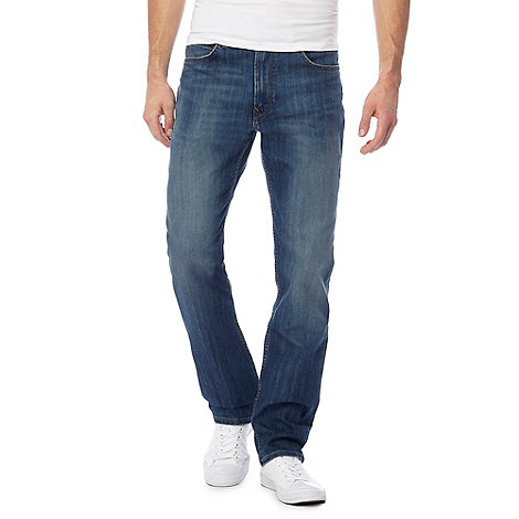Lee - Blake blue dark rinse straight leg jeans