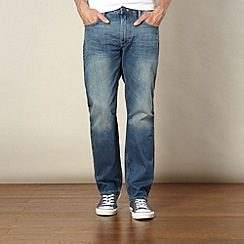 Lee - Blake mid blue straight leg mid wash jeans