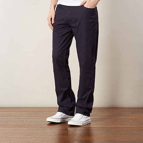 Lee - Big and tall Brooklyn navy straight leg trousers