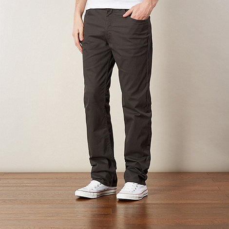 Lee - Brooklyn dark grey straight leg trousers
