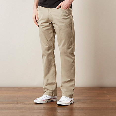 Lee - Brooklyn beige five pocket twill trousers