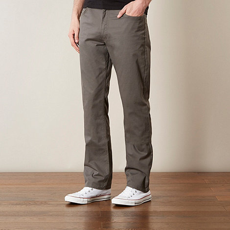 Lee - Brooklyn grey five pocket twill trousers