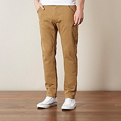 Lee - Logger light tan relaxed tapered leg twill trousers