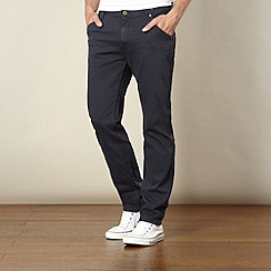 Lee - Logger navy relaxed tapered raw wash jeans