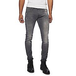 G-Star - Grey 'Revend' super slim jeans