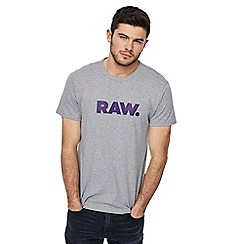 G-Star - Grey logo print t-shirt